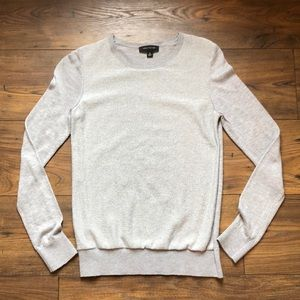 Ann Taylor Silver Sparkle Crewneck Sweater!
